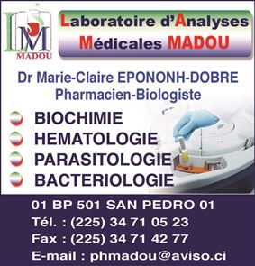 LABORATOIRE D'ANALYSES MEDICALES MADOU